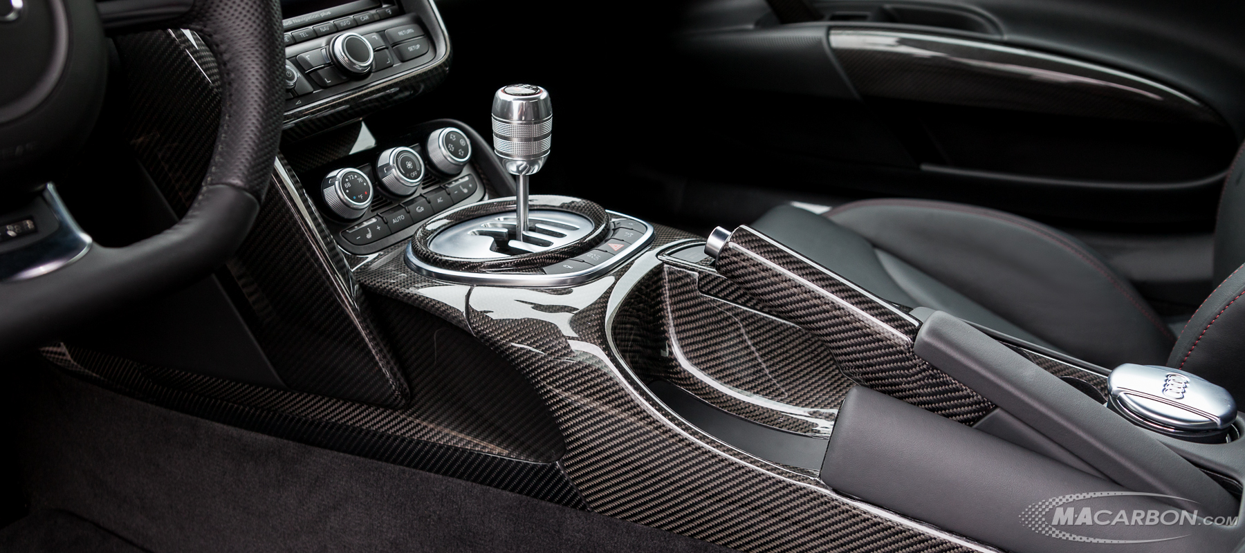 Custom Carbon Fiber Interior for Audi by MACarbon
